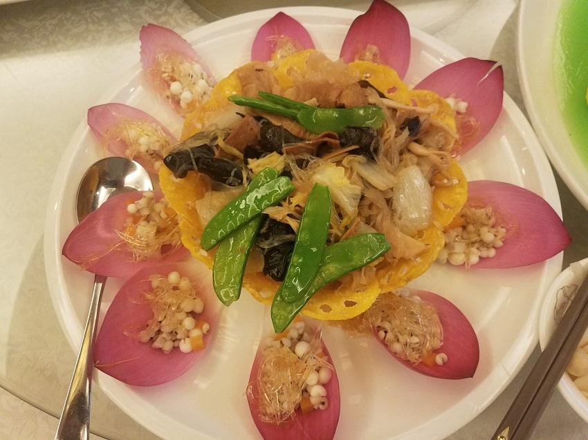 Edible lotus fried